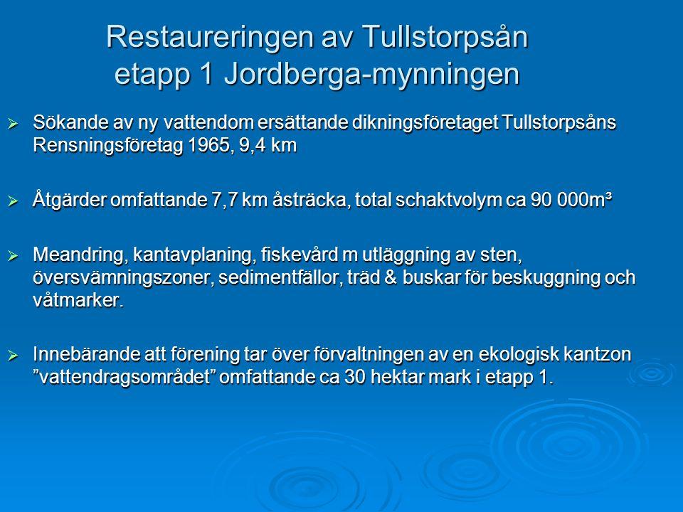 Restaureringen av Tullstorpsån etapp 1 Jordberga-mynningen