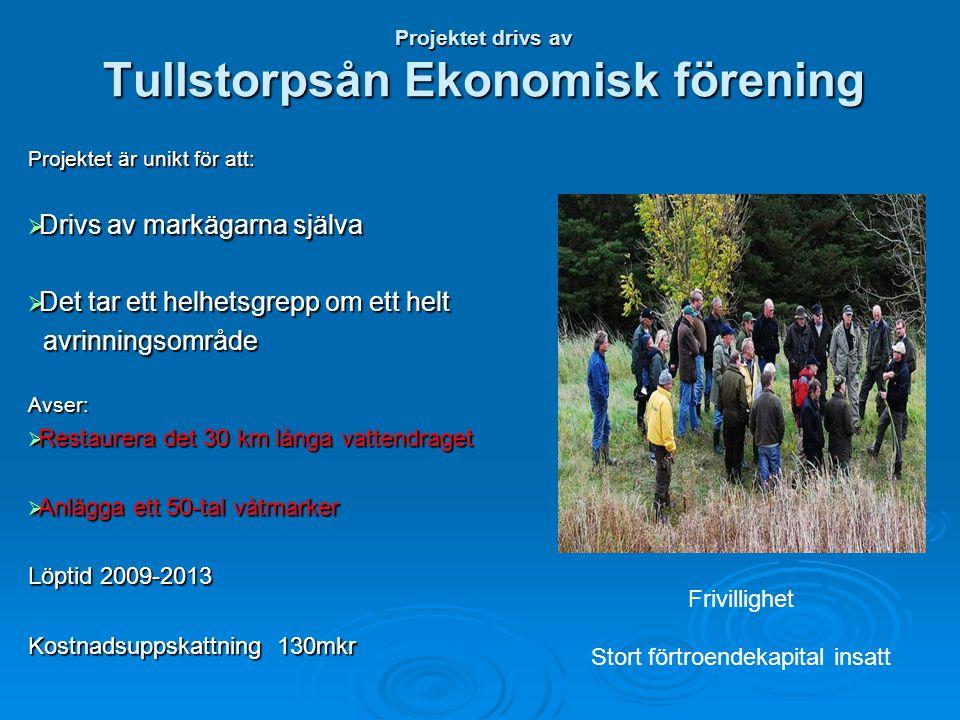 Projektet drivs av Tullstorpsån Ekonomisk förening