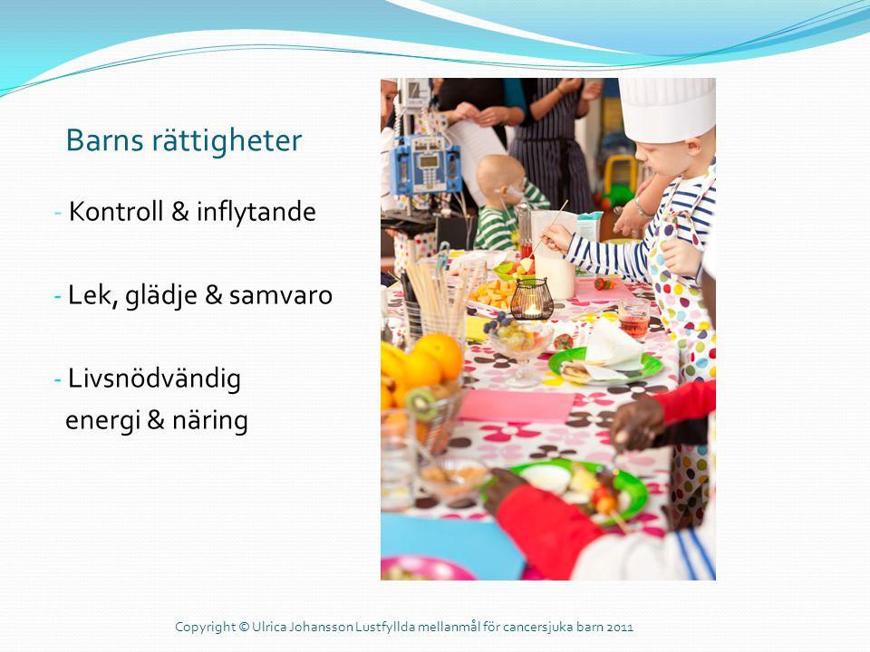 Barns rättigheter - Kontroll & inflytande Lek, glädje & samvaro