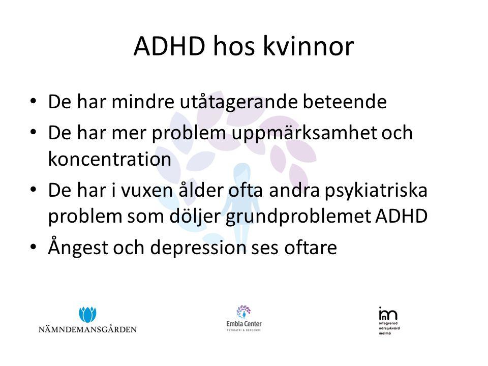ADHD hos kvinnor De har mindre utåtagerande beteende