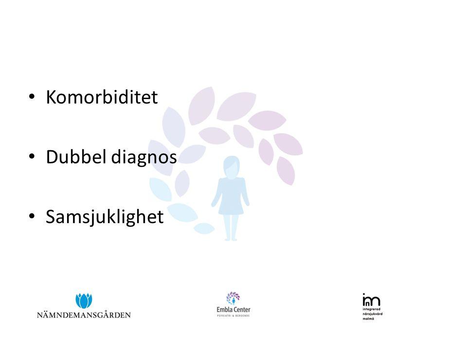 Komorbiditet Dubbel diagnos Samsjuklighet