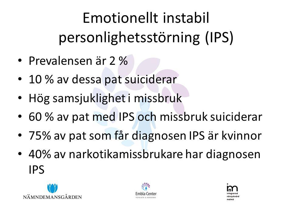 Emotionellt instabil personlighetsstörning (IPS)