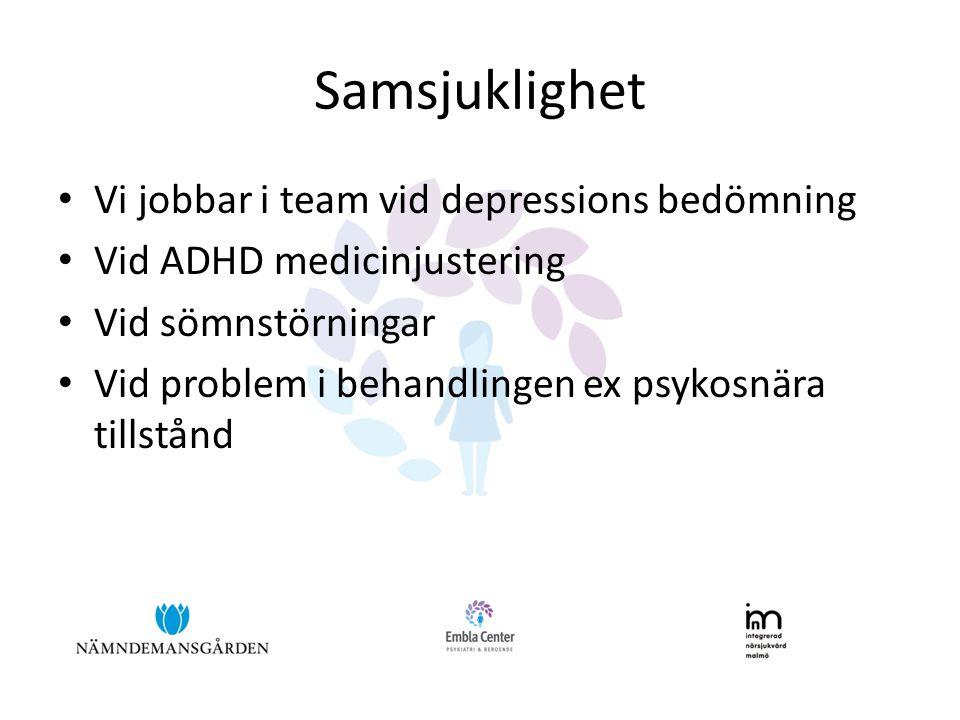 Samsjuklighet Vi jobbar i team vid depressions bedömning