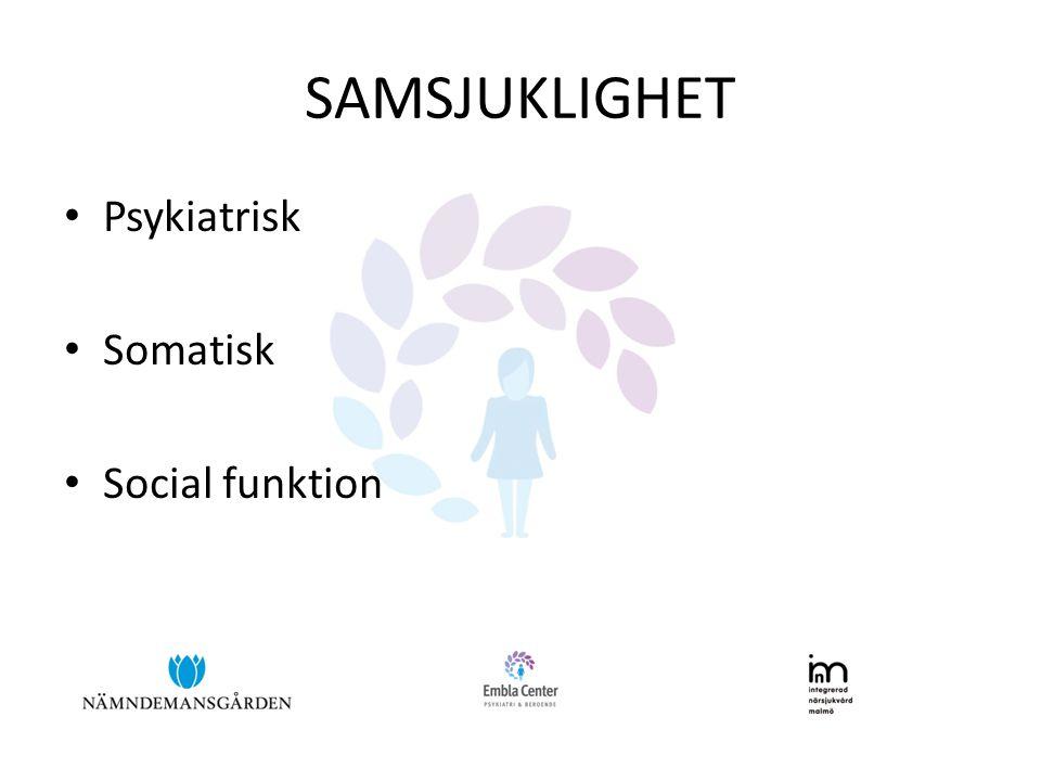 SAMSJUKLIGHET Psykiatrisk Somatisk Social funktion