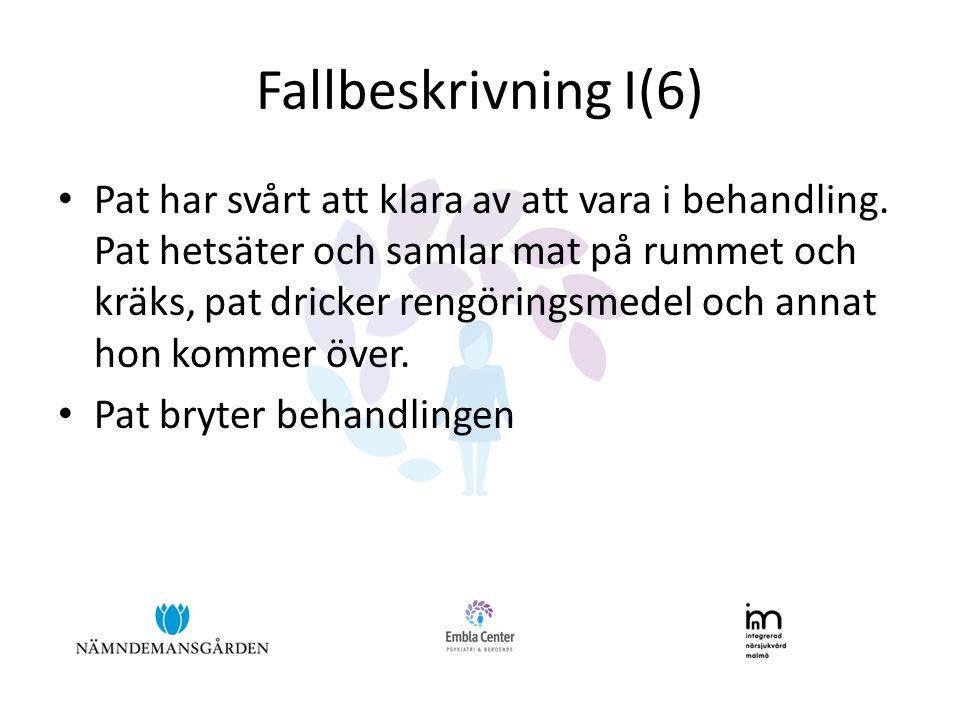 Fallbeskrivning I(6)