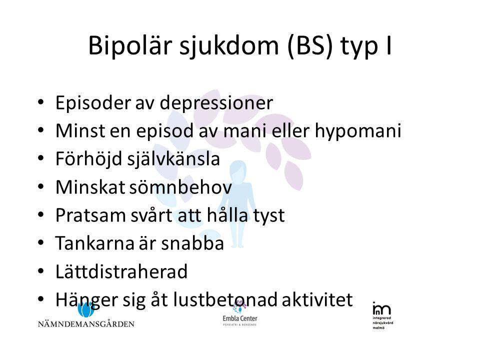 Bipolär sjukdom (BS) typ I