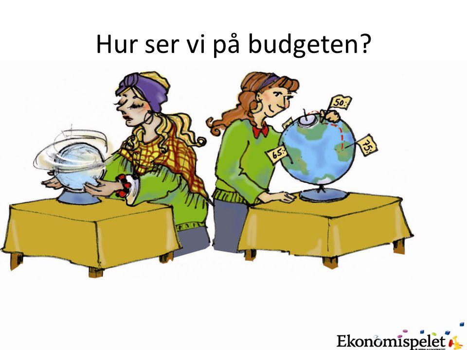 Hur ser vi på budgeten