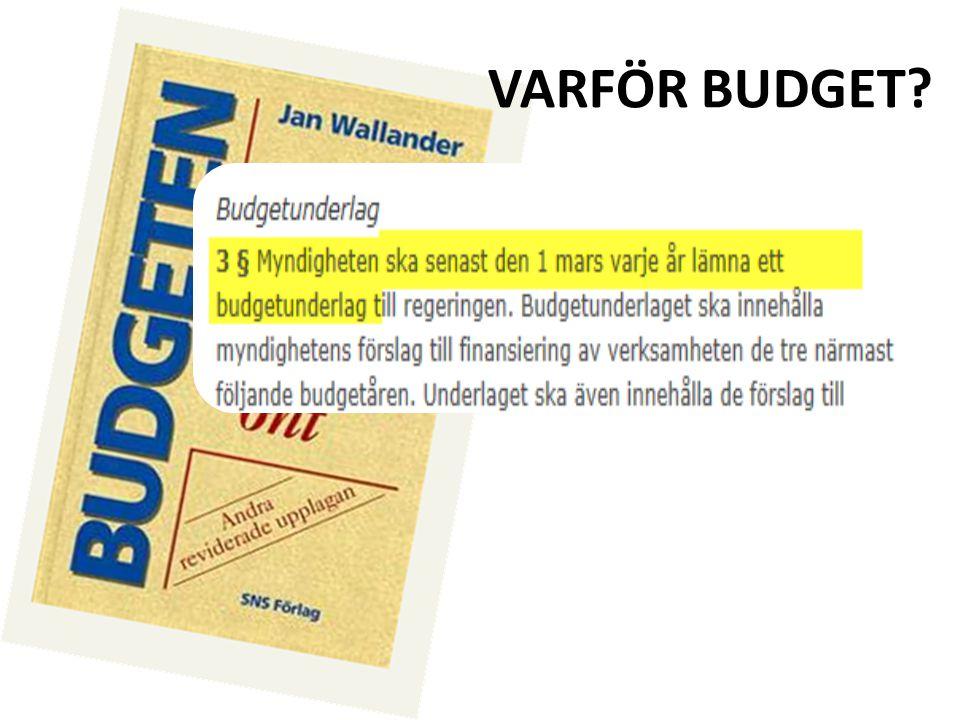 VARFÖR BUDGET