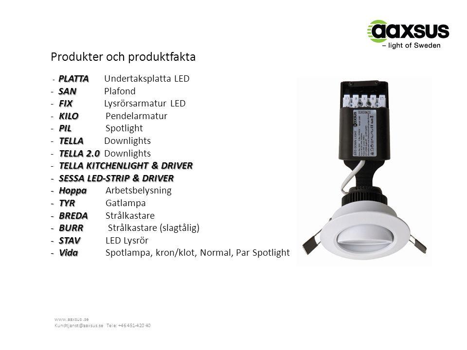 Produkter och produktfakta