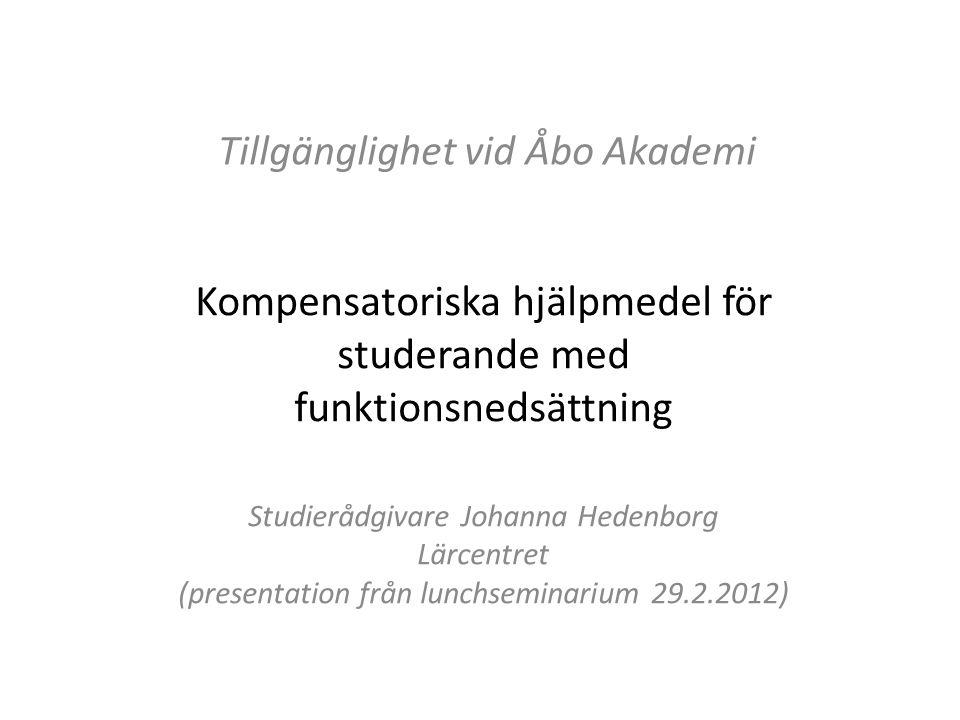 Tillgänglighet vid Åbo Akademi