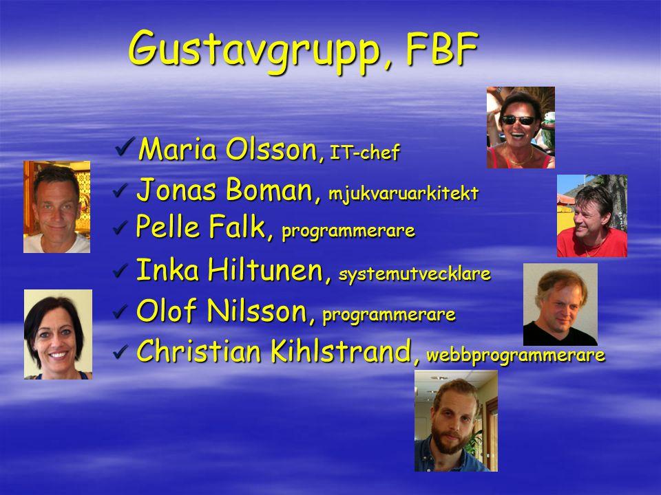 Gustavgrupp, FBF Maria Olsson, IT-chef Jonas Boman, mjukvaruarkitekt