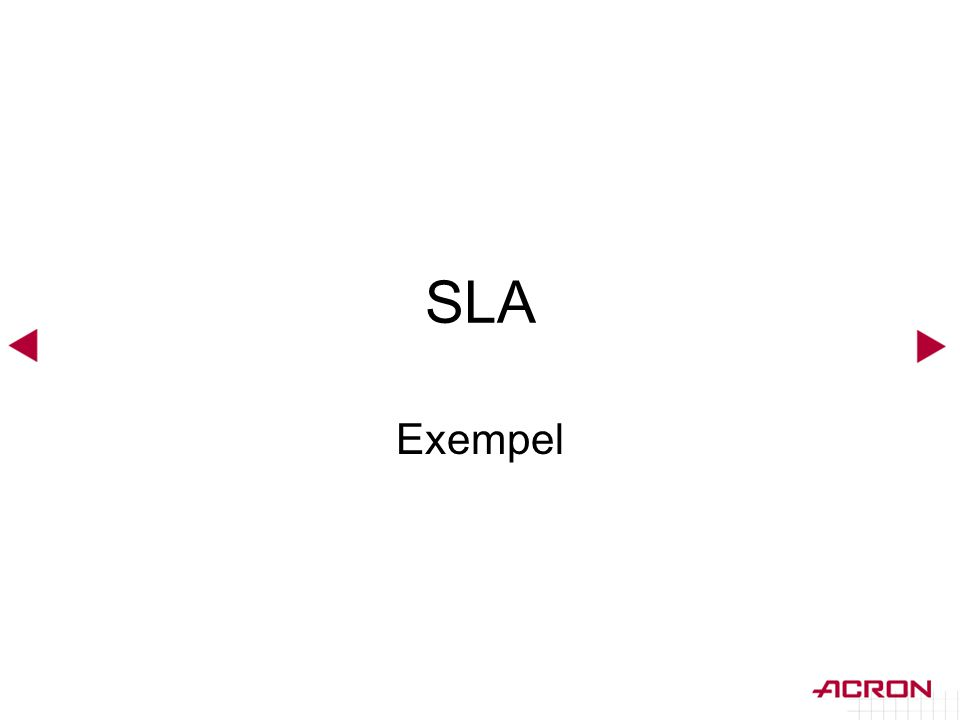 SLA Exempel