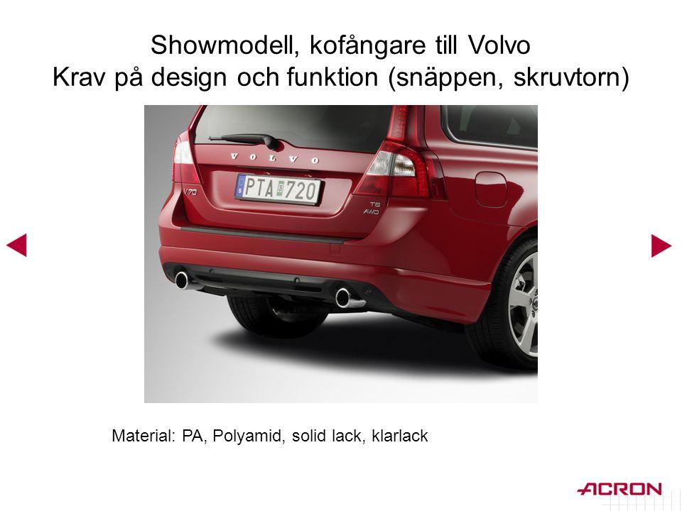 Showmodell, kofångare till Volvo