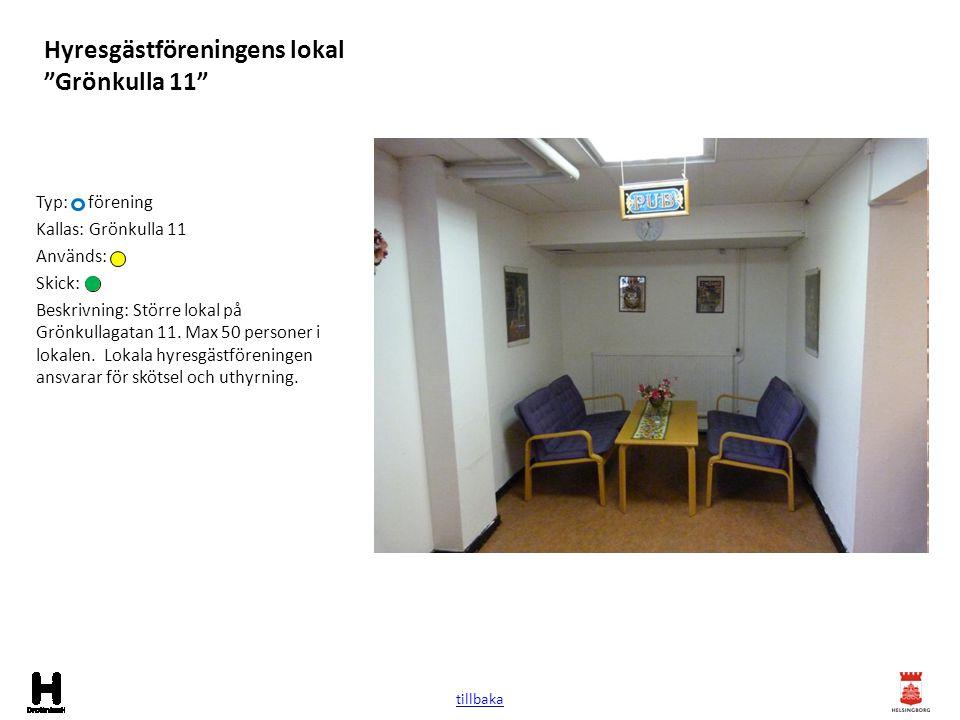 Hyresgästföreningens lokal Grönkulla 11
