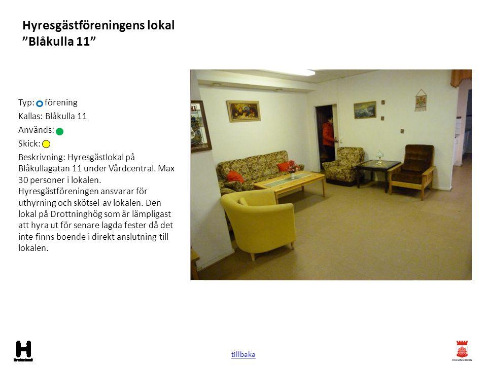 Hyresgästföreningens lokal Blåkulla 11