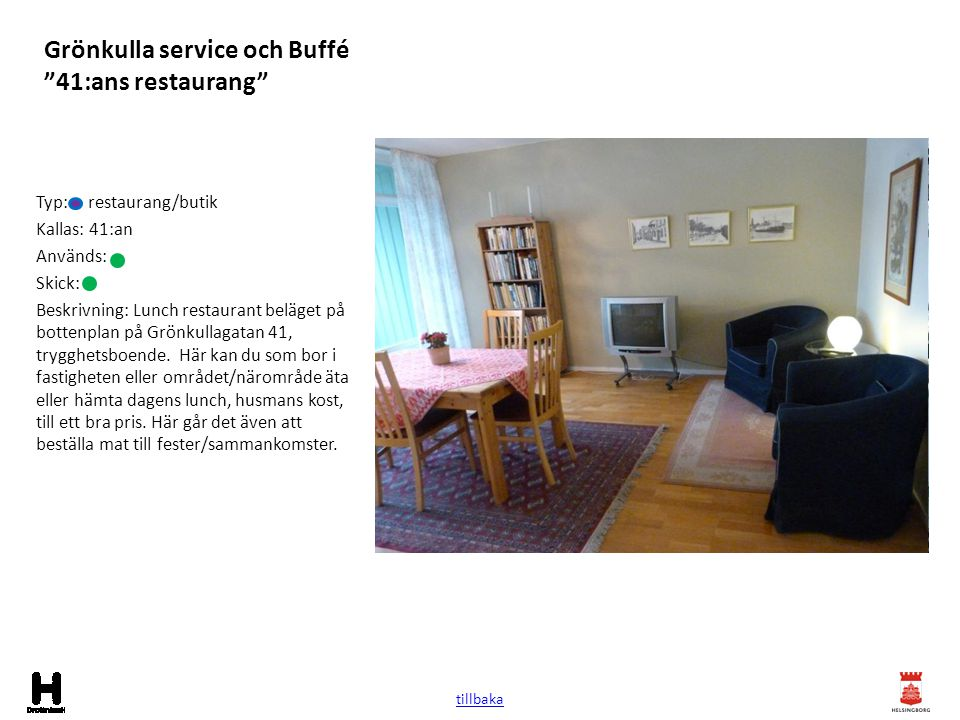 Grönkulla service och Buffé 41:ans restaurang