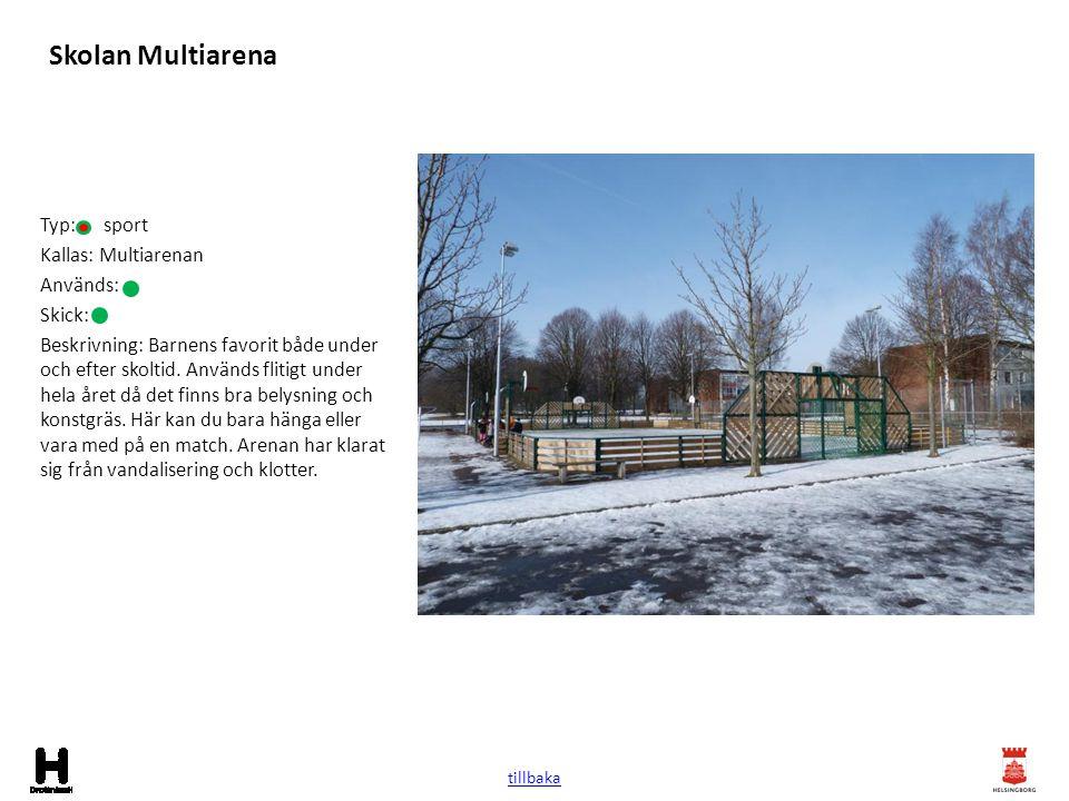 Skolan Multiarena Typ: sport Kallas: Multiarenan Används: Skick: