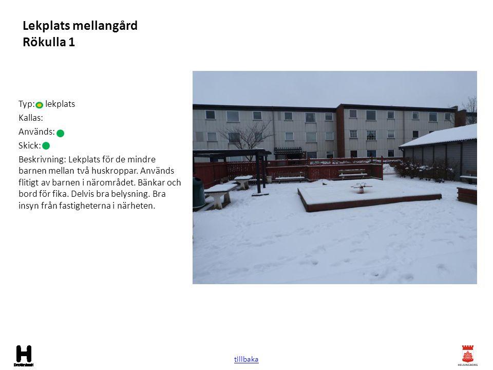 Lekplats mellangård Rökulla 1