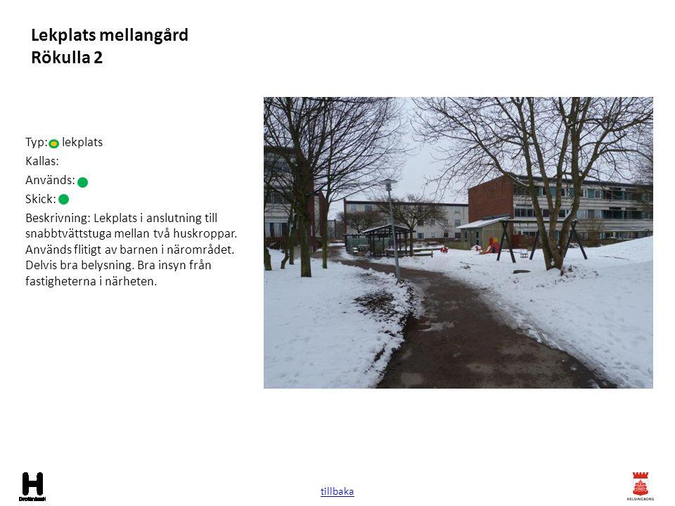 Lekplats mellangård Rökulla 2