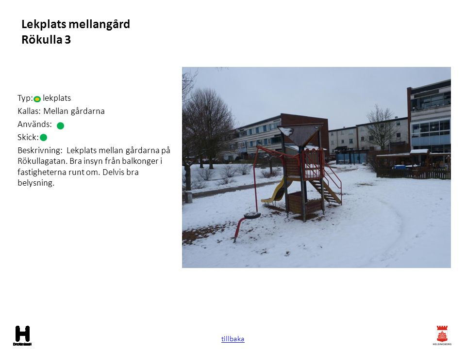 Lekplats mellangård Rökulla 3