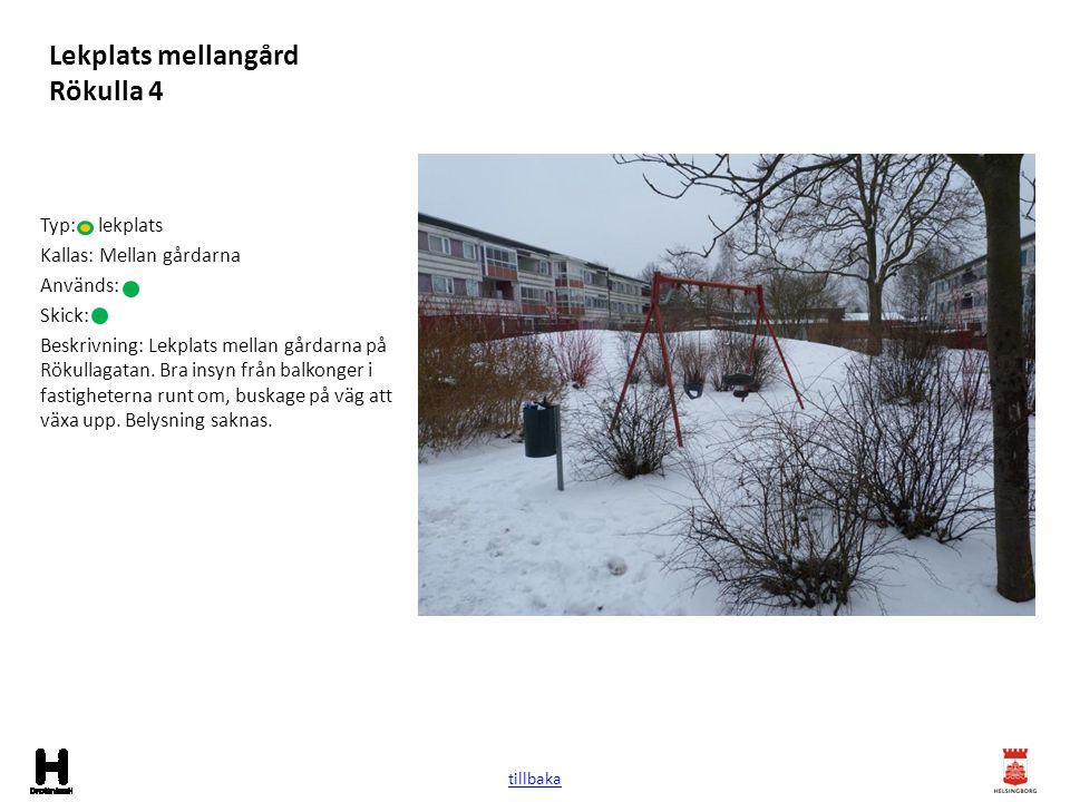 Lekplats mellangård Rökulla 4