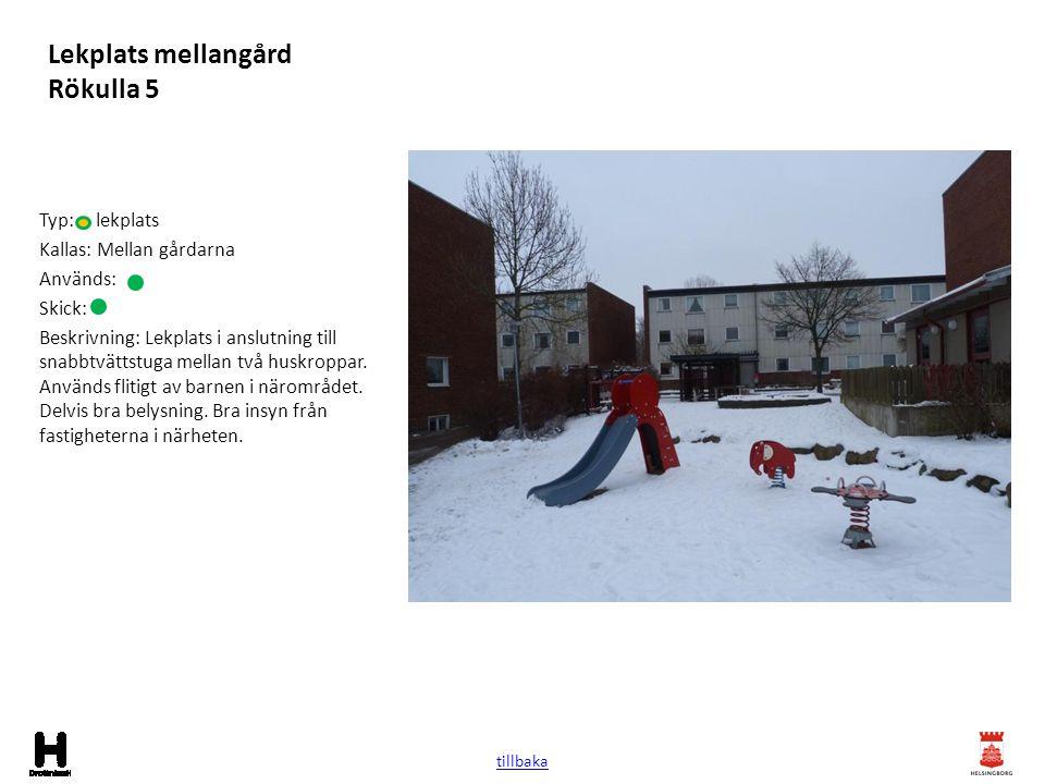 Lekplats mellangård Rökulla 5