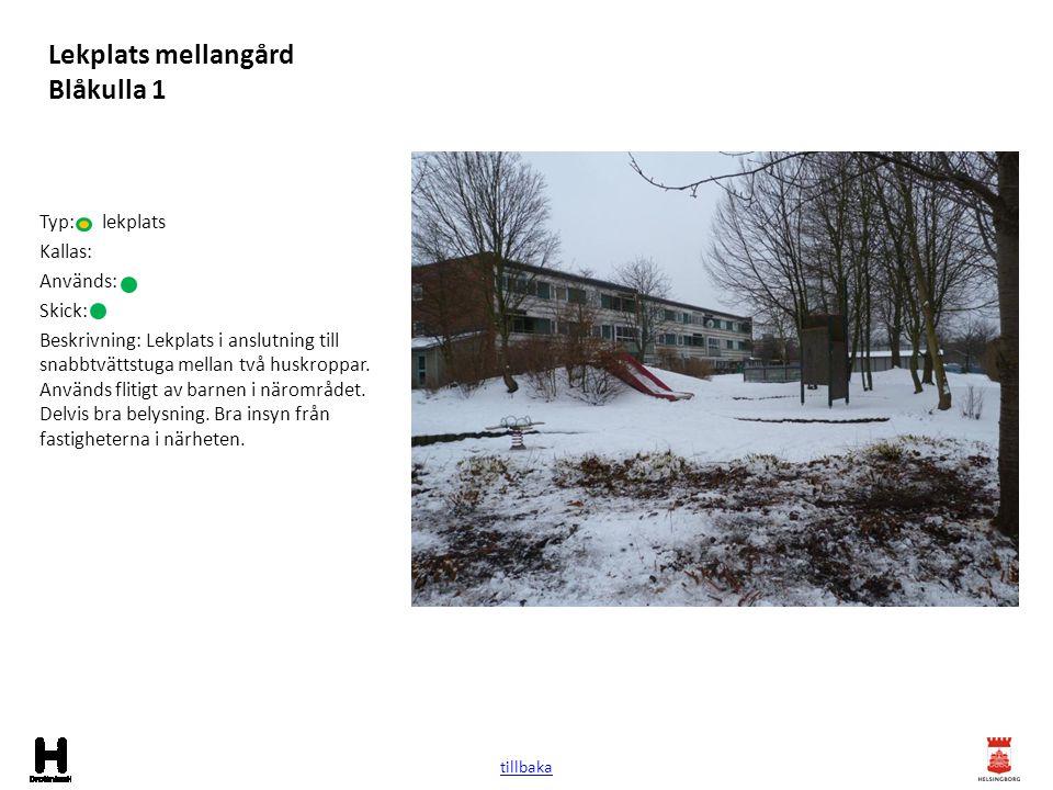 Lekplats mellangård Blåkulla 1