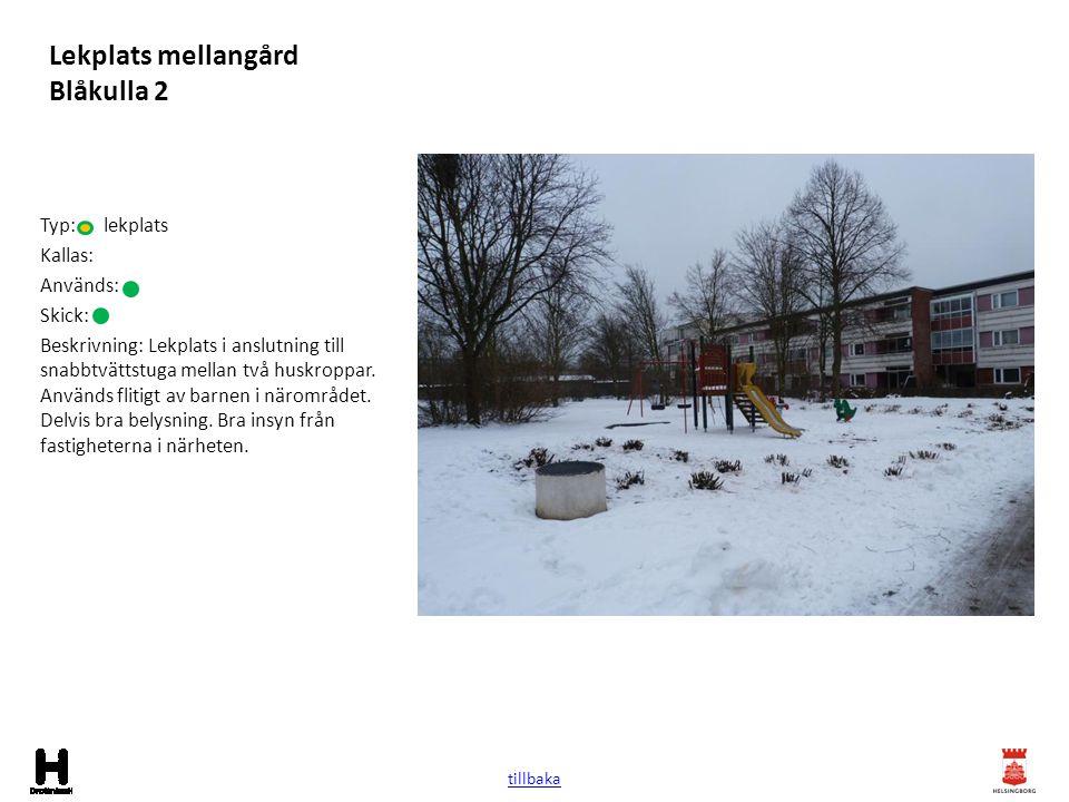 Lekplats mellangård Blåkulla 2