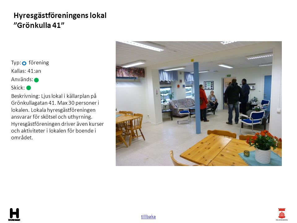 Hyresgästföreningens lokal Grönkulla 41