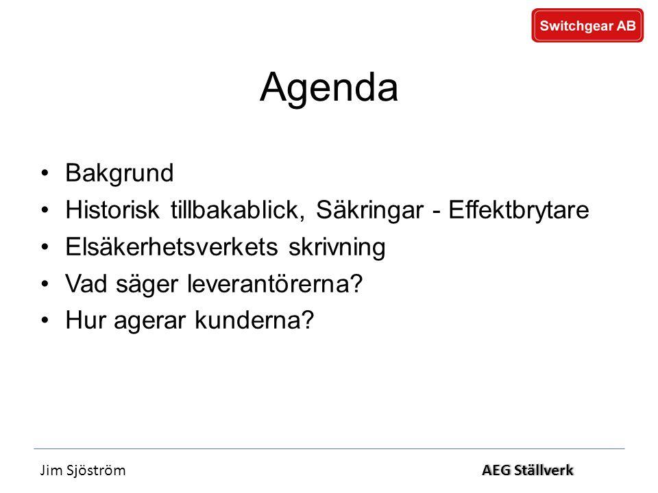 Agenda Bakgrund Historisk tillbakablick, Säkringar - Effektbrytare