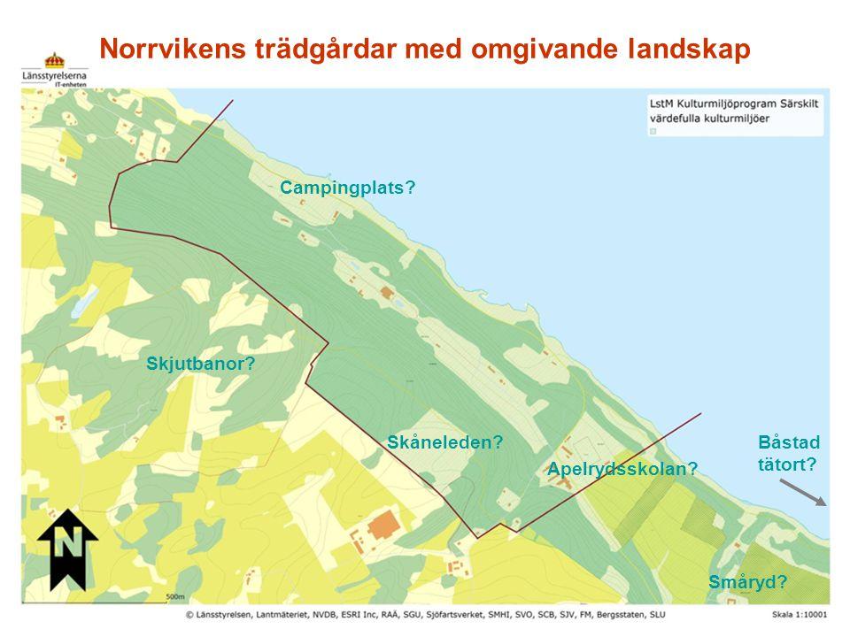 Norrvikens trädgårdar med omgivande landskap
