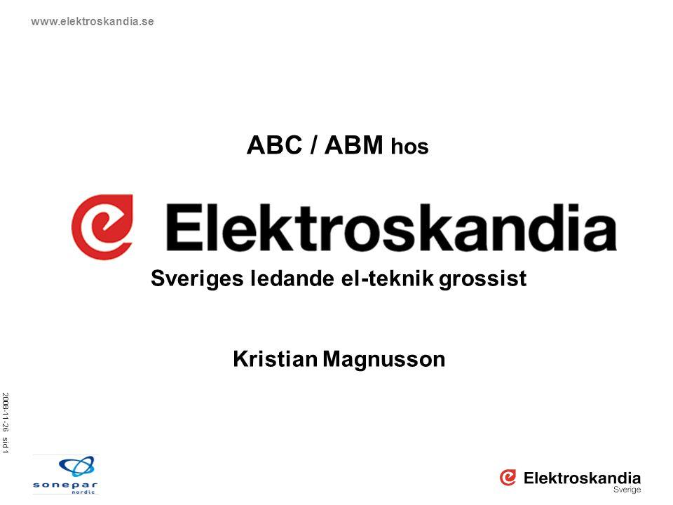 Sveriges ledande el-teknik grossist
