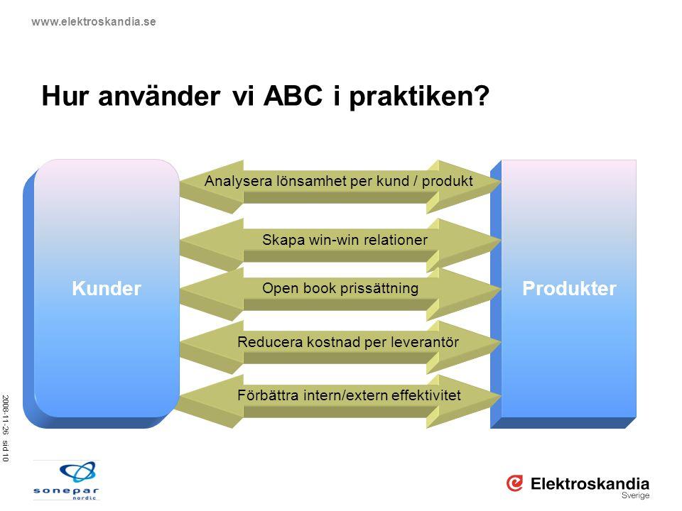 Hur använder vi ABC i praktiken