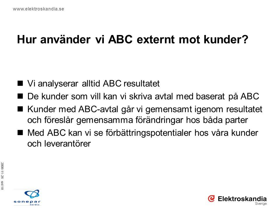 Hur använder vi ABC externt mot kunder