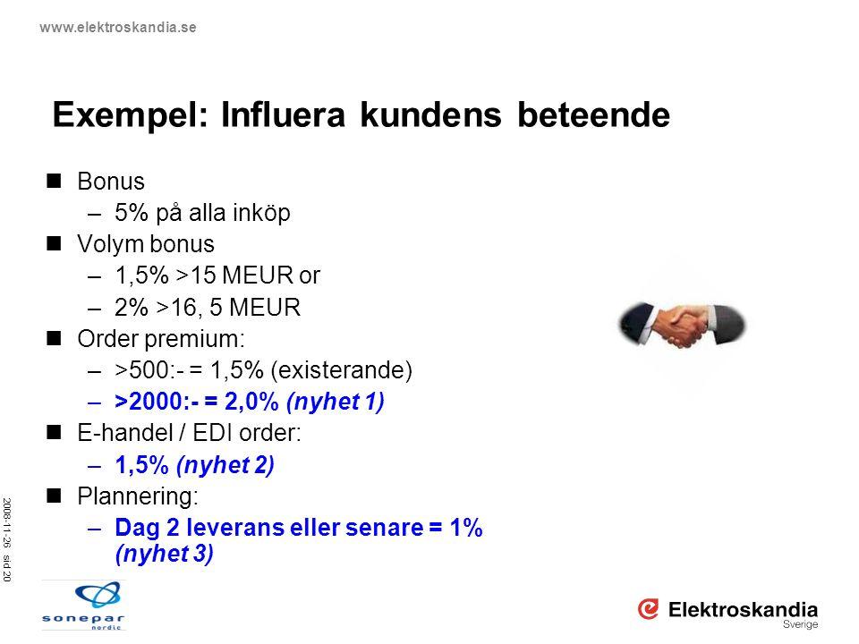 Exempel: Influera kundens beteende