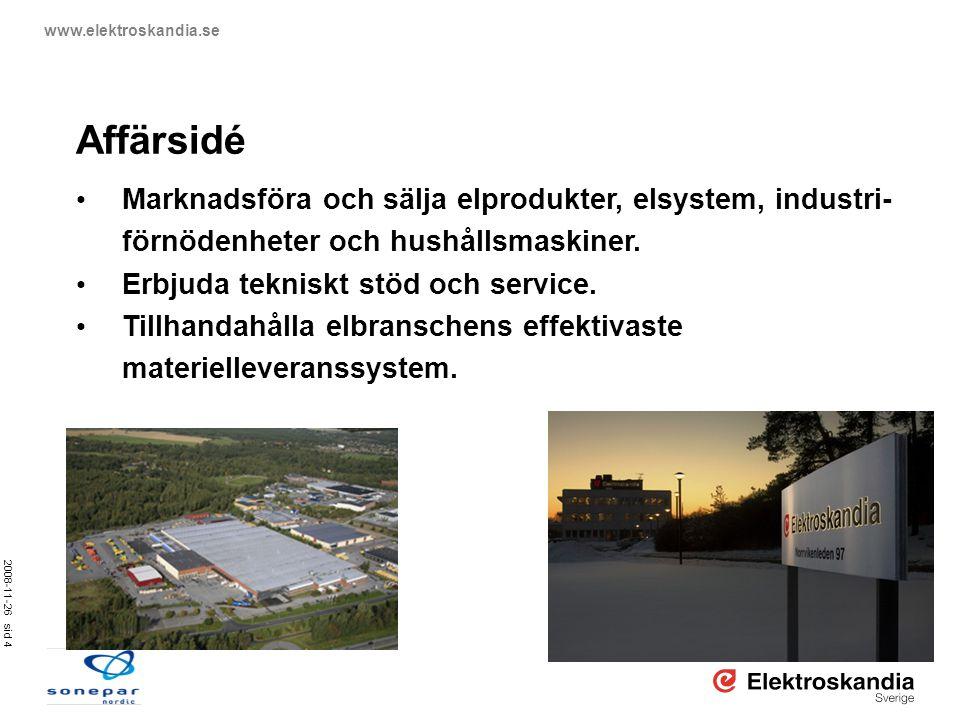 Affärsidé Marknadsföra och sälja elprodukter, elsystem, industri-