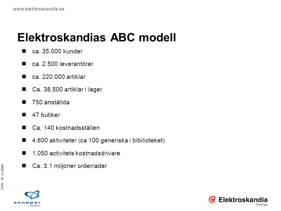 Elektroskandias ABC modell