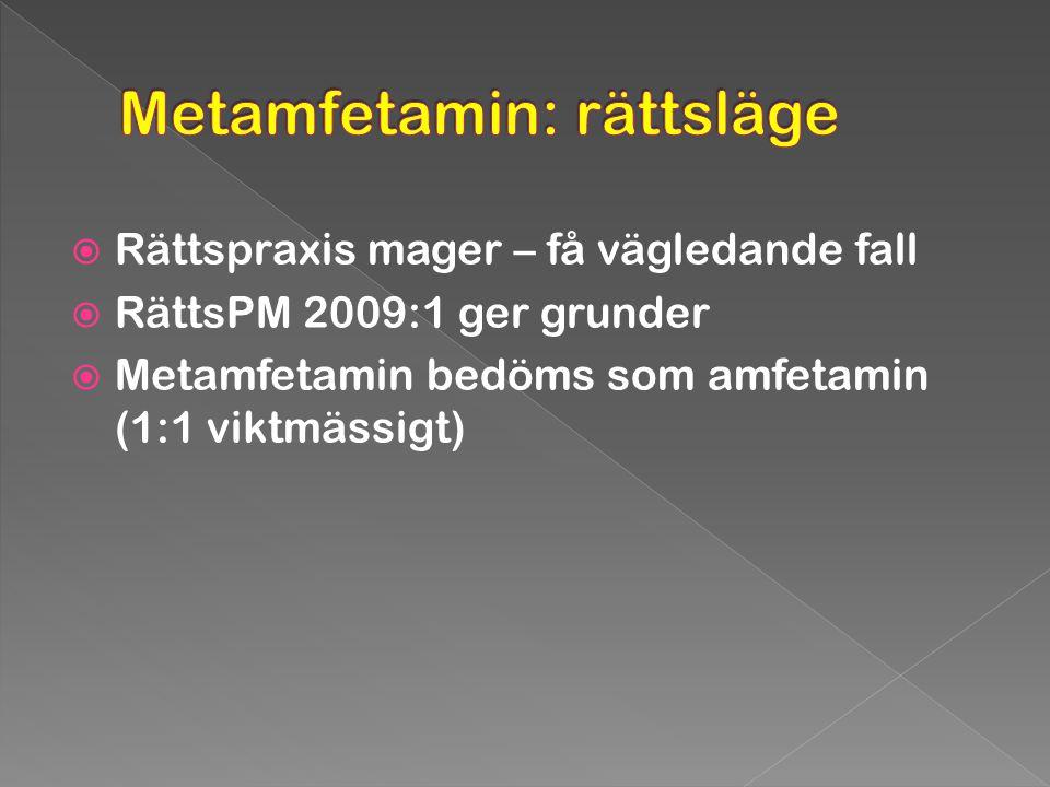 Metamfetamin: rättsläge