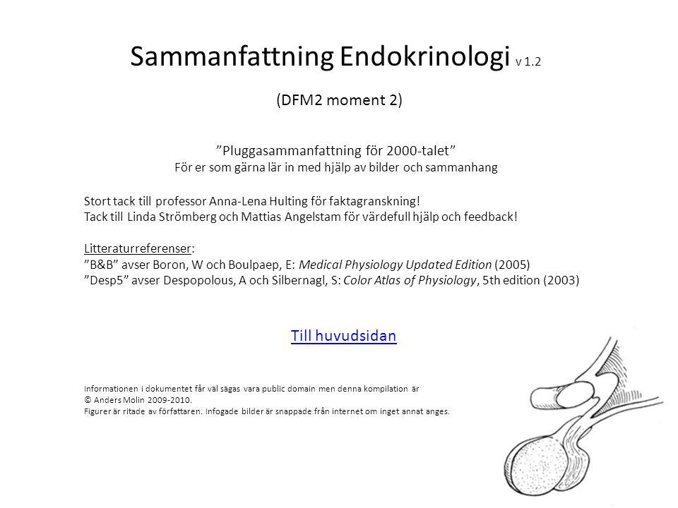 Sammanfattning Endokrinologi v 1.2 (DFM2 moment 2)