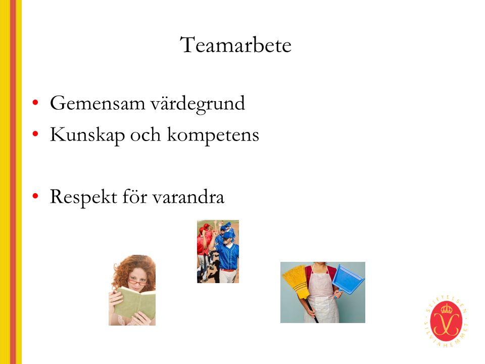 Teamarbete Gemensam värdegrund Kunskap och kompetens