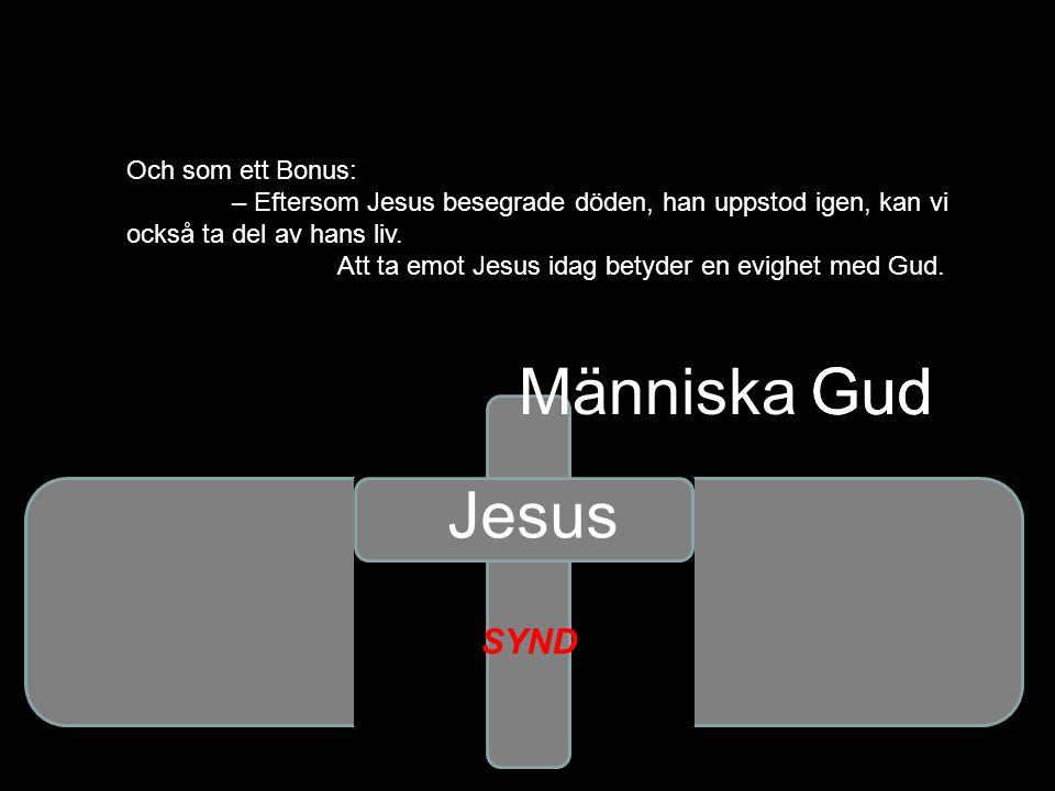 Människa Gud Gud Jesus SYND Och som ett Bonus: