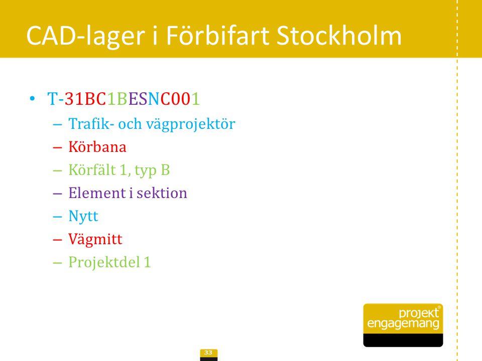 CAD-lager i Förbifart Stockholm