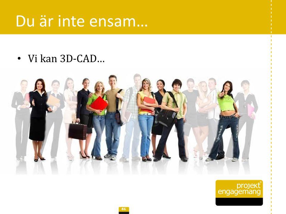 Du är inte ensam… Vi kan 3D-CAD…