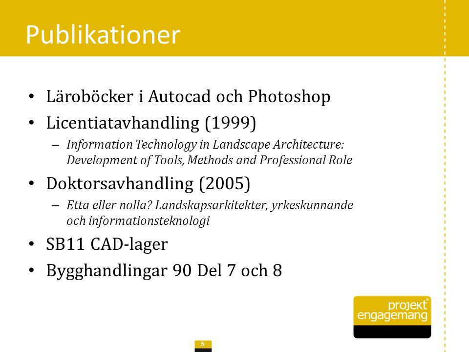 Publikationer Läroböcker i Autocad och Photoshop