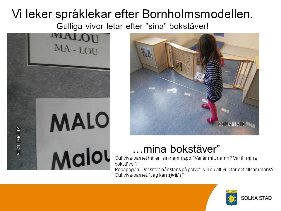 Vi leker språklekar efter Bornholmsmodellen
