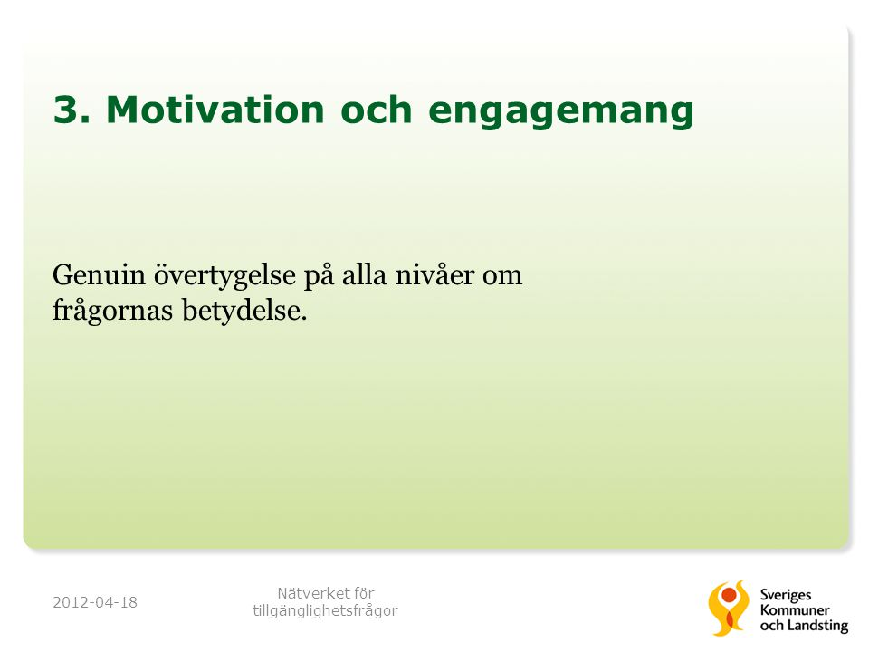 3. Motivation och engagemang