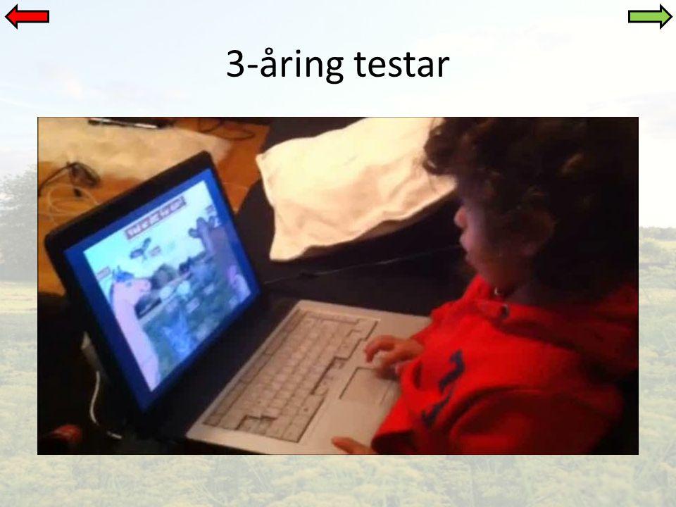 3-åring testar