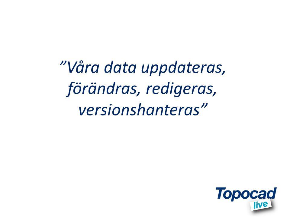 Våra data uppdateras, förändras, redigeras, versionshanteras