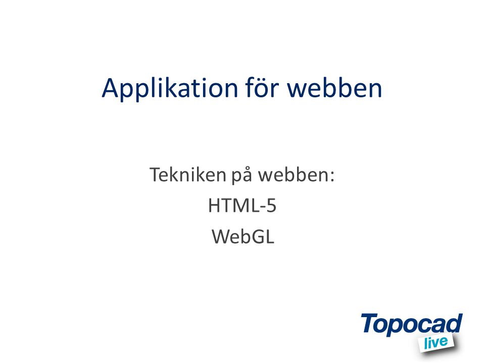 Applikation för webben