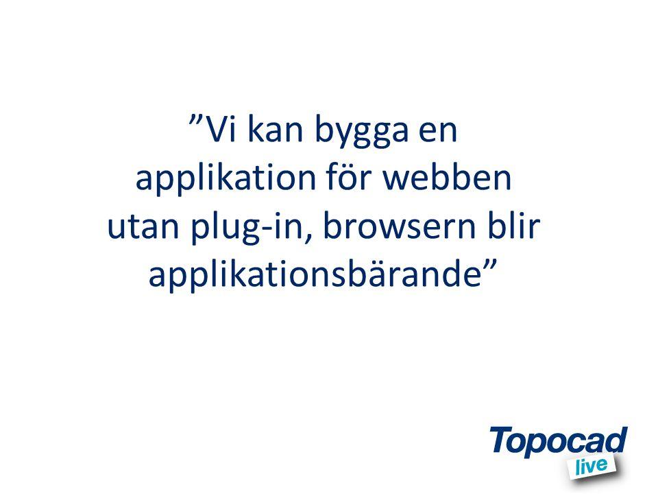 Vi kan bygga en applikation för webben utan plug-in, browsern blir applikationsbärande
